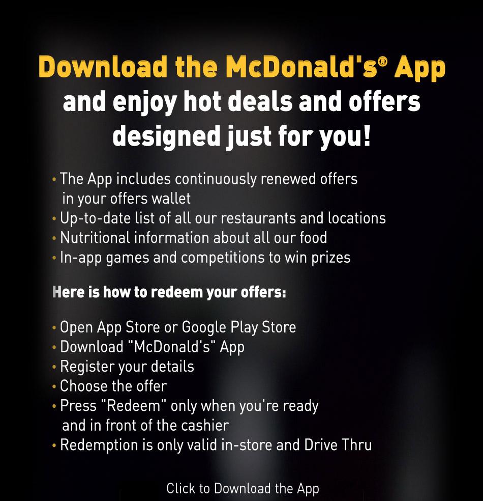 McDonald's App   McDonald's Egypt